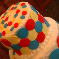 Primary Color Fondant Birthday Cake