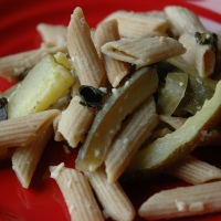 Penne and Zucchini with Lime and Herbs {from Rachael Ray}