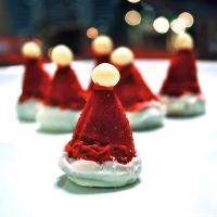 Santa Hat Cake Balls