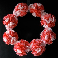 Valentine's Cupcake Wrapper Wreath