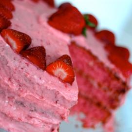 Katy's Strawberry Cake