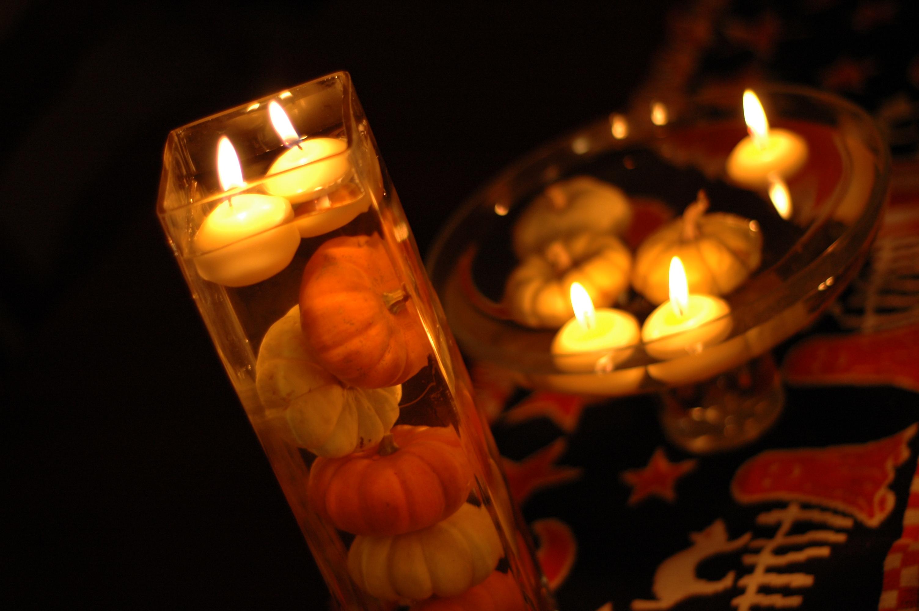 Pumpkin centerpieces megoirs