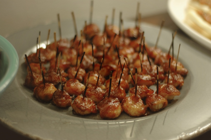 bacon water chestnuts