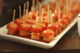 Tomato, Watermelon and Basil Bites