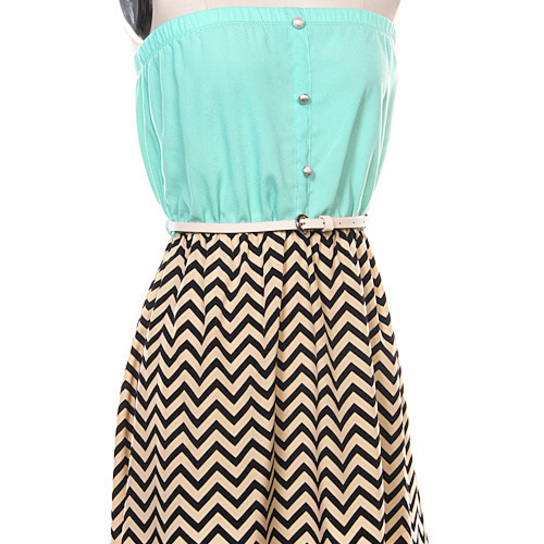 belted-chevron-mint-and-black-and-white-dress