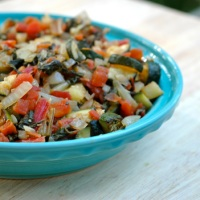 Spicy Swiss Chard and Zucchini