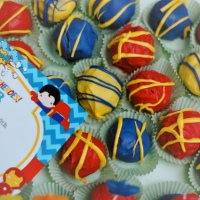 Super Hero Cake Balls