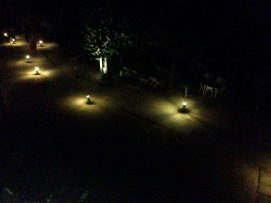 The paths at night