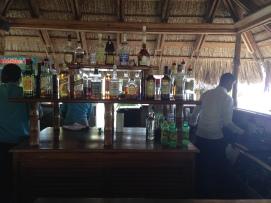 well-stocked bars on the beach