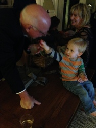 Nephew Jack with Uncle Gary