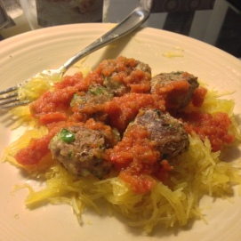 Red Sauce, Meatballs, and Spaghetti Squash