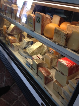 Next stop: Cheese tasting.