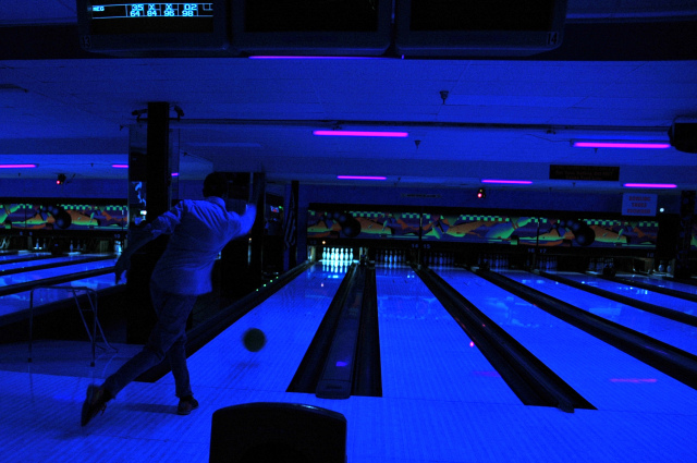 I love this cosmic bowling picture, because in 2011, my now-husband and I had been dating about three months when he took me on this little bowling date. I loved it, and already loved him!