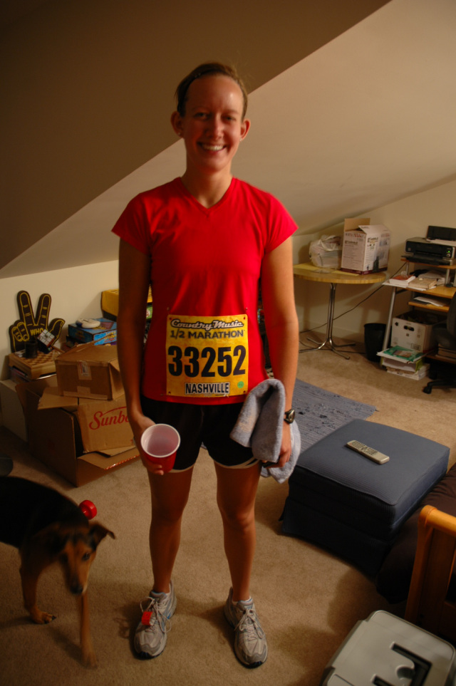 I'm pretty sure this was Katy's first half marathon, and it was a really big deal!! And she, unlike SOME of us (aka ME) really stuck with running, and has done several races, include sprint triathalons. I'm so excited because in just a few weeks she is visiting me in Columbus for the Cap City Half Marathon!