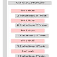 Rowing HIIT Workout