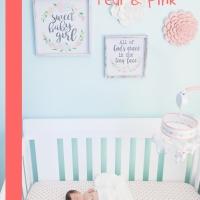 Baby Girl Nursery {Teal & Pink}